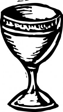 Woodcut Illustration of Holy Grail