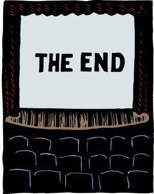 illustration of Movie Screen Showing The End