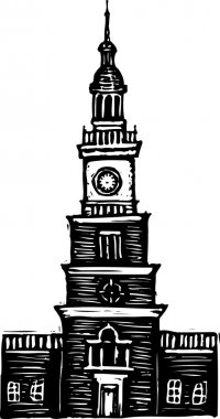 Vector Illustration of Independence Hall