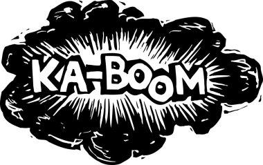 Vector Illustration of Explosion