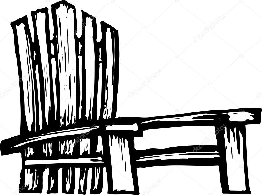 Adirondack Chair — Stock Vector © ronjoe #29844247