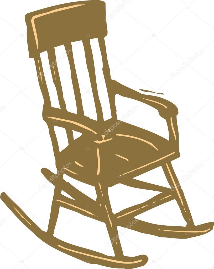 silla mecedora — Archivo Imágenes Vectoriales © ronjoe #29844343