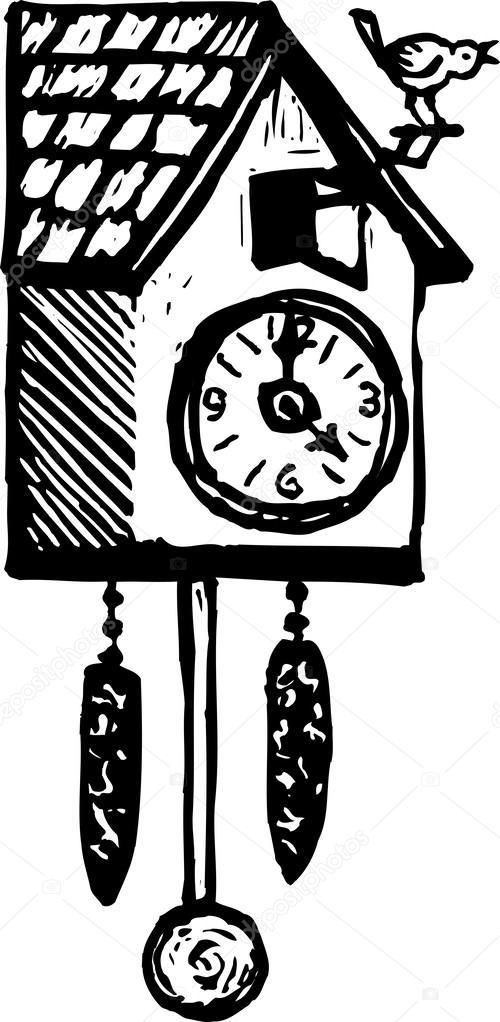 4ed40345c63 relógio de cuco — Vetor de Stock © ronjoe  29844383