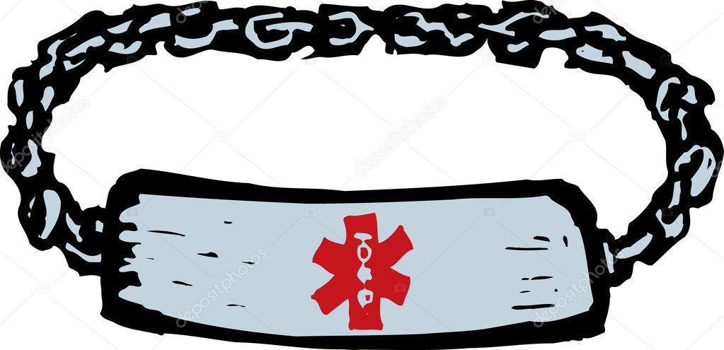 woodcut illustration of medical alert bracelet stock vector rh depositphotos com vector security medical alert vector security medical alert