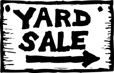 Vector Illustration of Yard Sale Sign