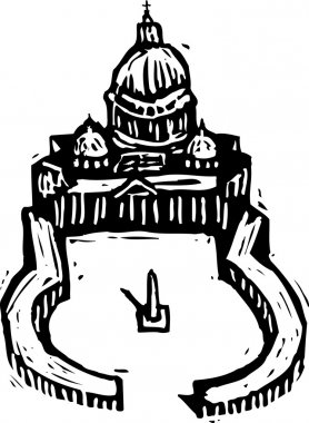 Woodcut Illustration of St Peter's