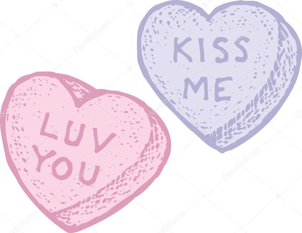 candy hearts — stock vector © ronjoe #30501351