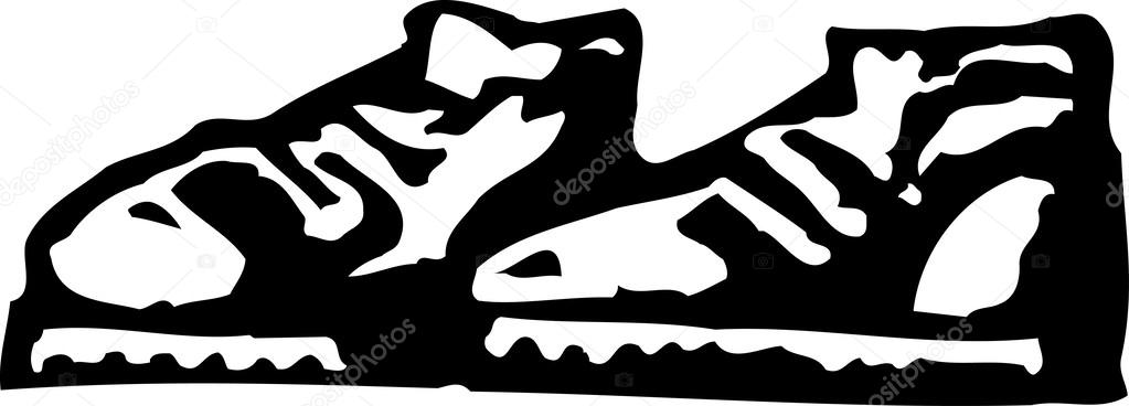 ᐈ Zapatos Tenis Para Dibujar Imágenes De Stock