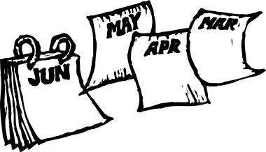 Vector Illustration of Calendar