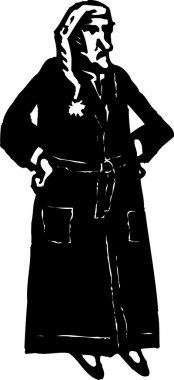 Woodcut Illustration of Ebenezer Scrooge