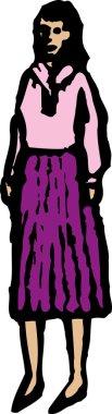 Vector illustration of Woman or Teen Girl