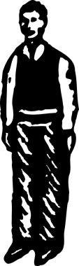 Vector illustration of Man or Teen Boy