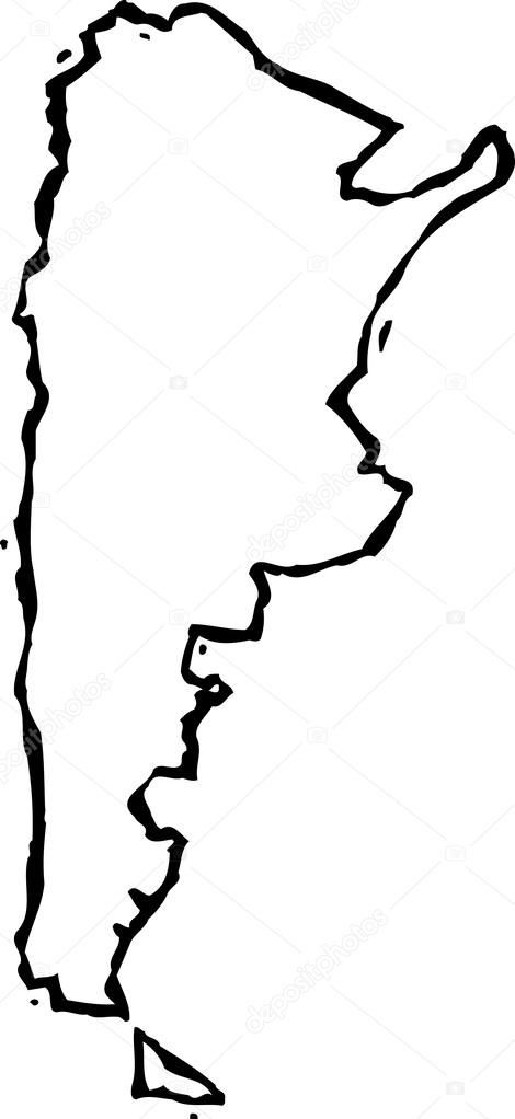 Vector Illustration Of Map Of Argentina Stock Vector Ronjoe - Argentina map vector