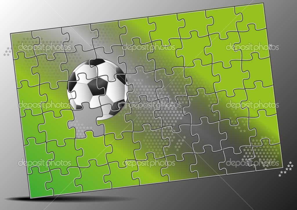 Fussball Puzzle Stockfoto C Yommy8008 50534289