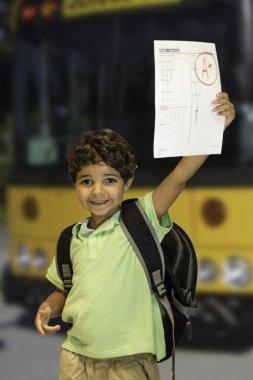 Child Showing Homework