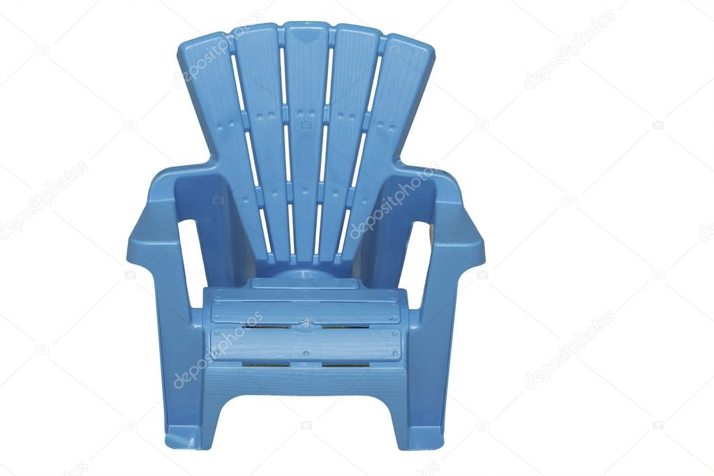 A Light Blue Lawn Chair Isolated On A White Background. U2014 Photo By  Schubphoto