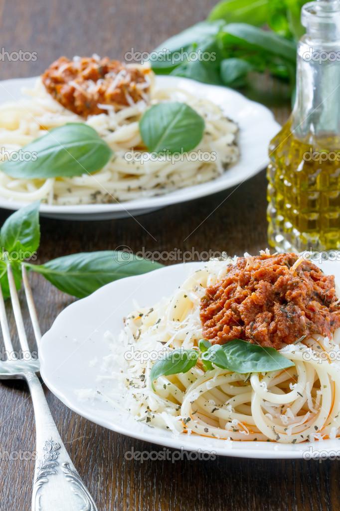 Spaghetti Con Ragu Alla Bolognese Foto Stock C Marishu 46397589