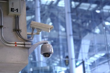 CCTV cameras in the airport.