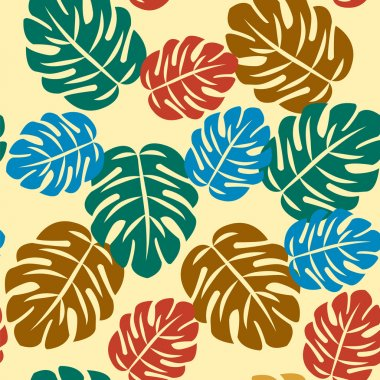 Seamless abstractS Tropical Pattern