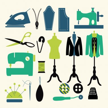 sewing icons - Illustration