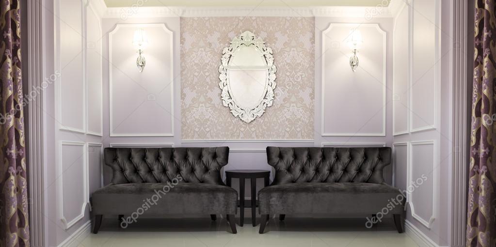 klassieke Engelse stijl sofa en huis interieur — Stockfoto © cchfoto ...