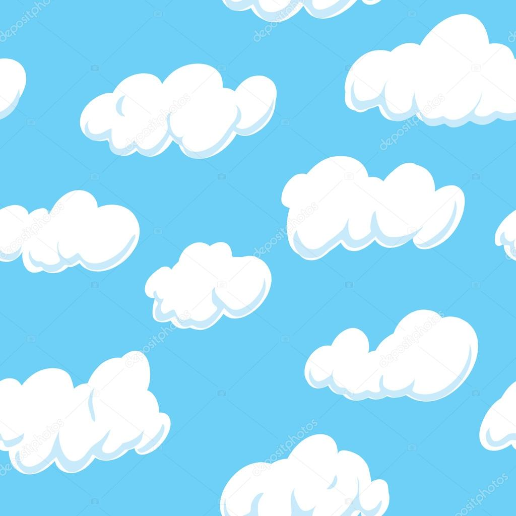 O que significa background image - Cloud Background Seamless On All 4 Sides Vetores De Stock 28209011