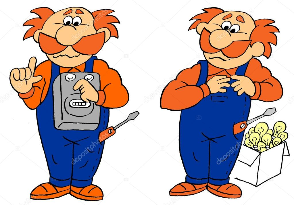 lustige comic bilder handwerker