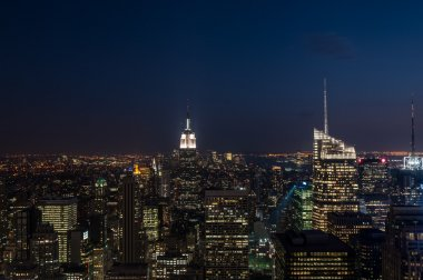 Night view of Manhattan.