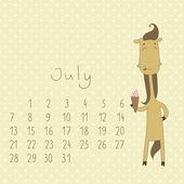 Kalendář na červenec 2014.
