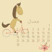 Fotografie Kalendář na červen 2014