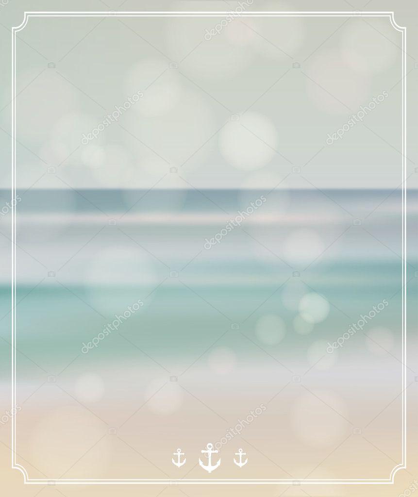 Summer background. Summer retro style postcard