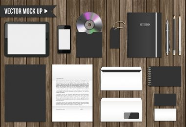 Vector corporate identity mock up