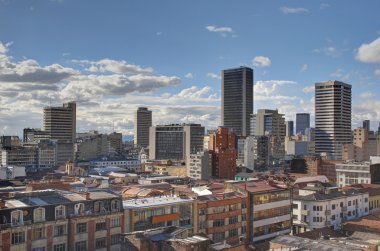 Skyline of Bogota Candelaria