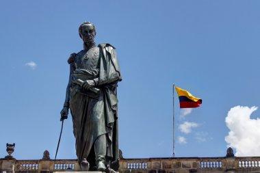 Statue of Simon Bolivar in Bogota