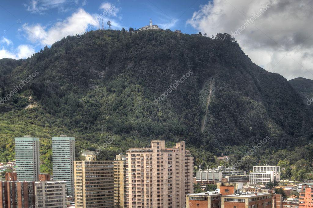 Monserrate mountain in Bogota