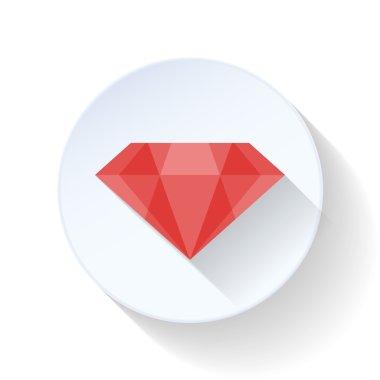 Ruby flat icon