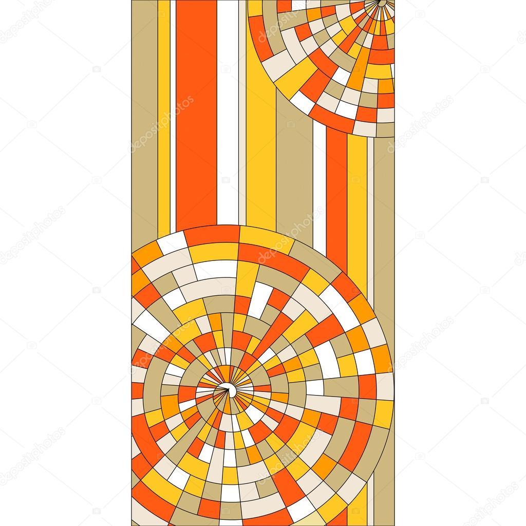 Fönster blyinfattade fönster : blyinfattade fönster med färgglada cirklar — Stock Vektor ...