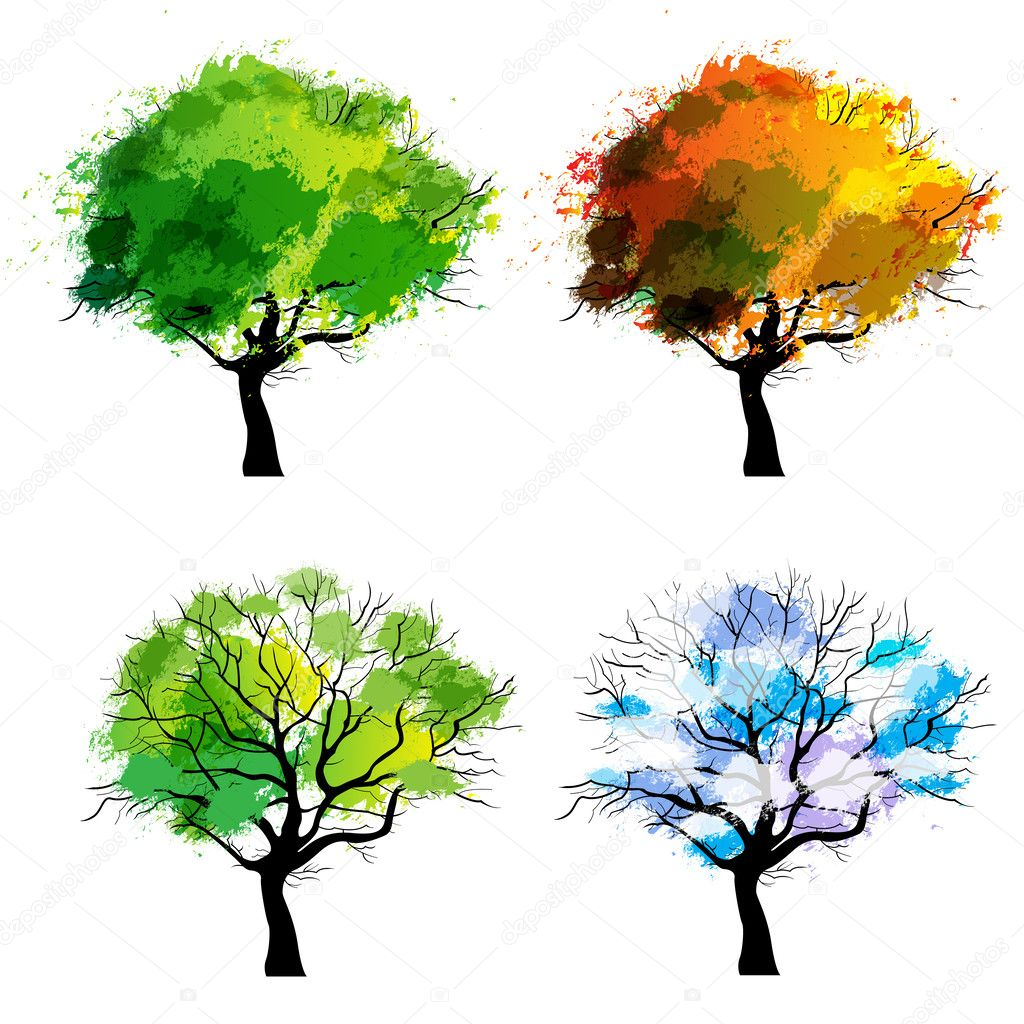 Trees of four seasons