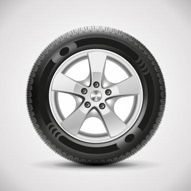 Detailed vector car tire stock vector