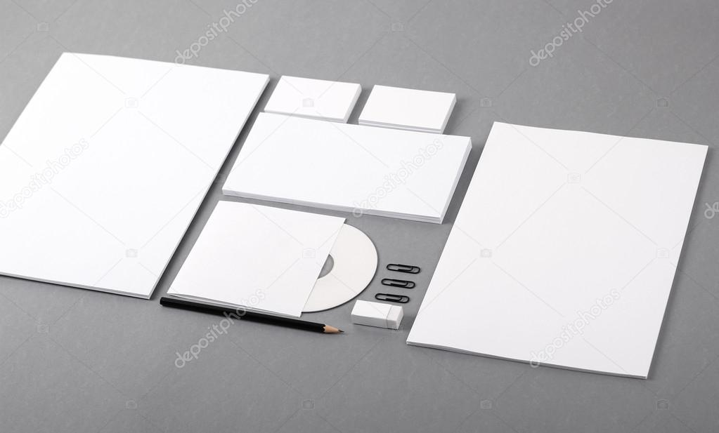 Blank visual identity. Letterhead, business cards, envelopes, CD ...