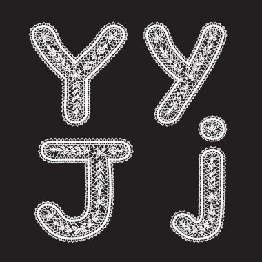 Letters Y and J
