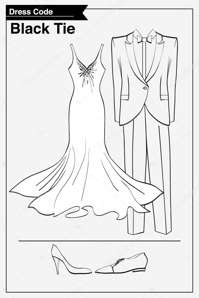 Dresscode Black tie — Stockvektor © ElenaBesedina #30953379