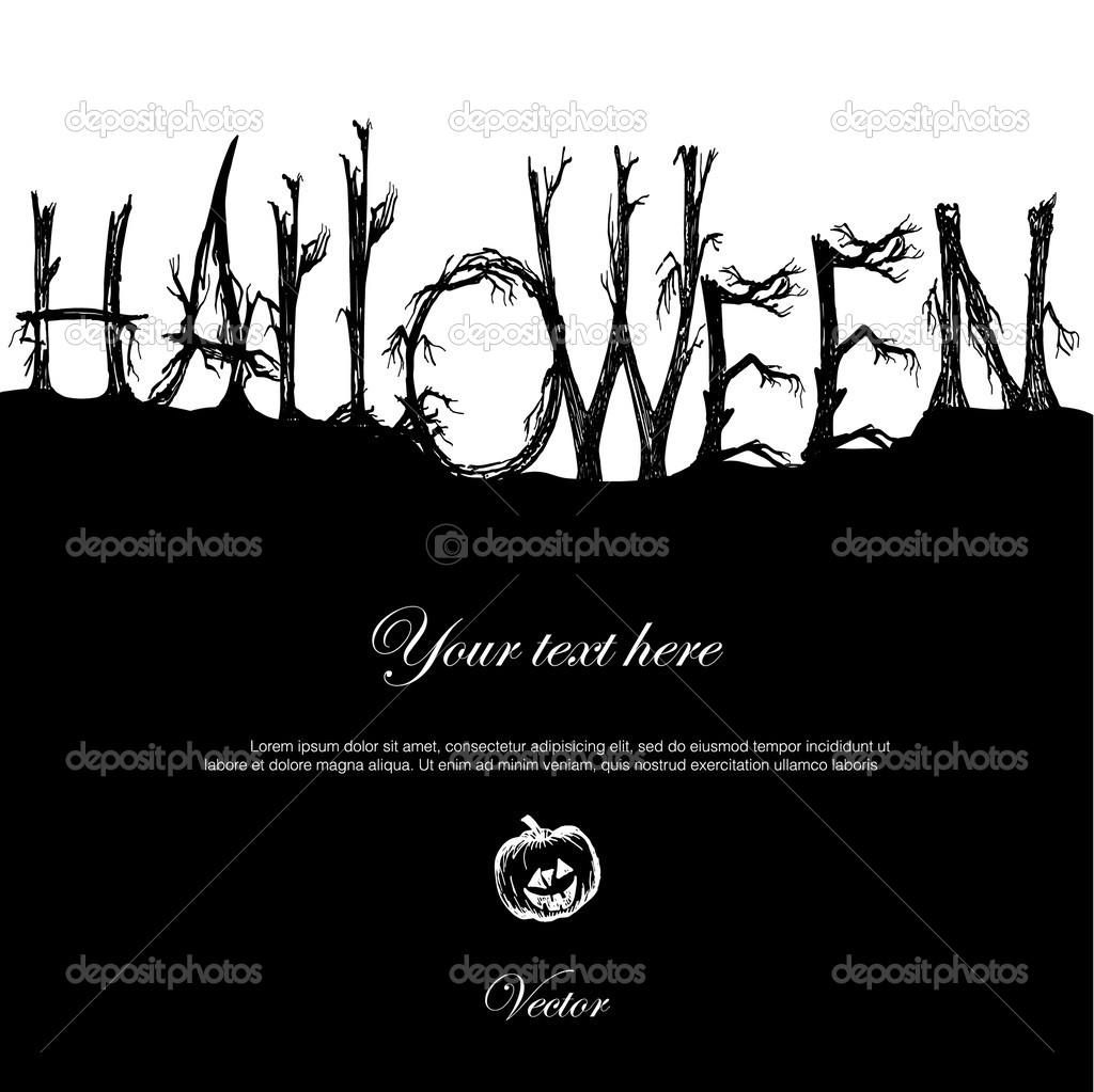 Tarjeta O Invitación Para La Fiesta De Halloween Vector De