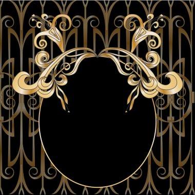 Floral ornamental decorative frame