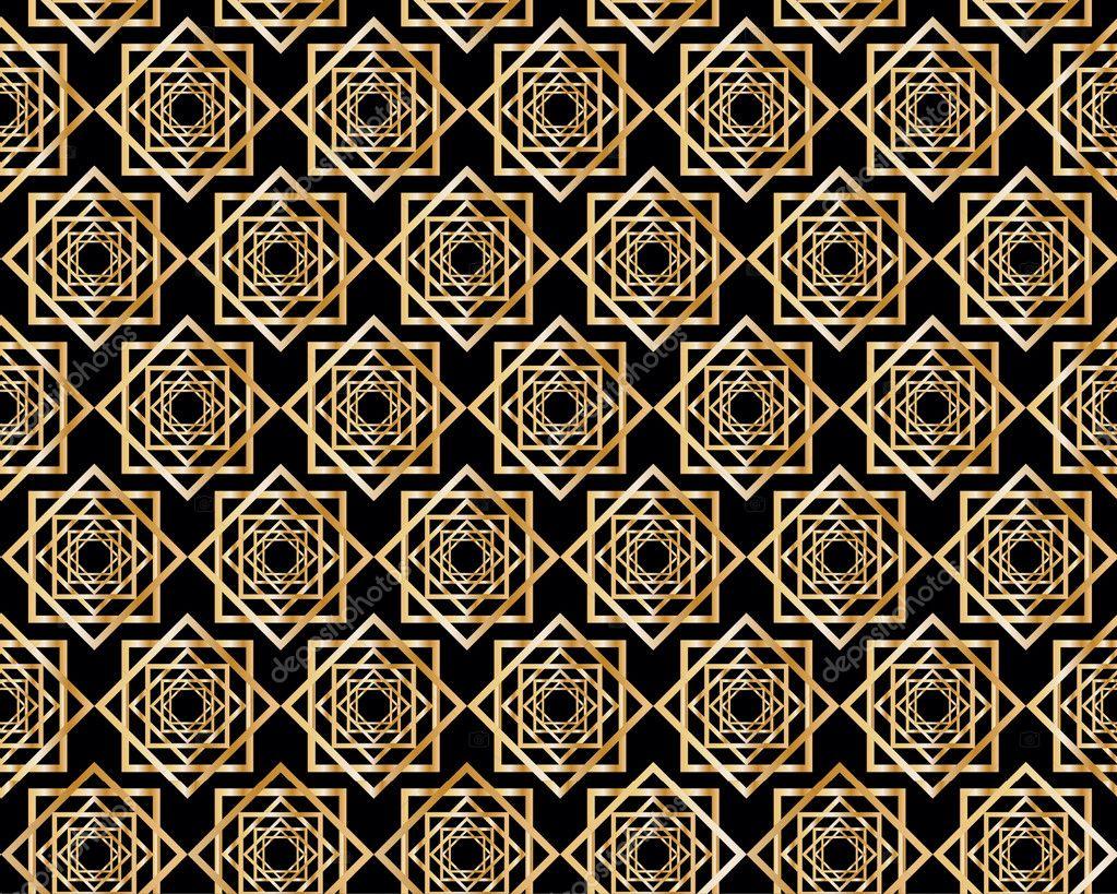 mod le sans couture avec des motifs g om triques abstraits dans le style art d co image. Black Bedroom Furniture Sets. Home Design Ideas