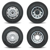 Vektor-LKW Reifen Symbole