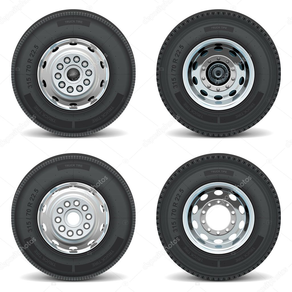 Vector truck tire icons