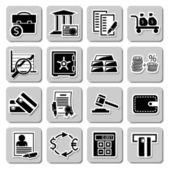 vektorový soubor bankovních ikony