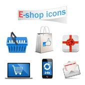 Fotografie vektorové ikony e-shop