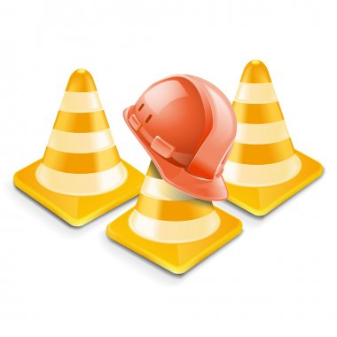 Vector traffic cones with helm
